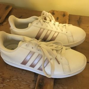 Rose Gold Adidas Sneakers Size 7.5